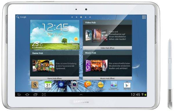Samsung Galaxy Note 10.1 GT-N8000ZWADBT QUAD CORE 2GB RAM WIFI + 3G Version weiß @Amazon Martketplace