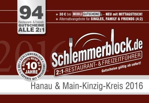 [GLOBUS MAINTAL] Schlemmerblock 2016 Hanau & MKK für 12,95€