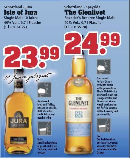 [Trinkgut] div. Whisky Angebote - Isle of Jura 23,99€, The Glenlivet 24,99€, Ardmore Legacy 19,99€, Aberlour 32,99€, Chivas 19.99€, etc