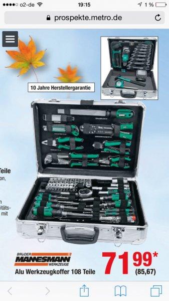 Mannesmann Werkzeugsatz im Alukoffer 108-tlg