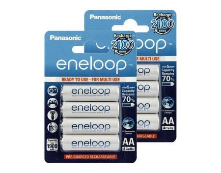 8x Panasonic Eneloop BK-3MCCE, Akku, Mignon AA 2000mAh (min. 1900mAh), HR6 - NEUSTE VERSION bei allyouneed