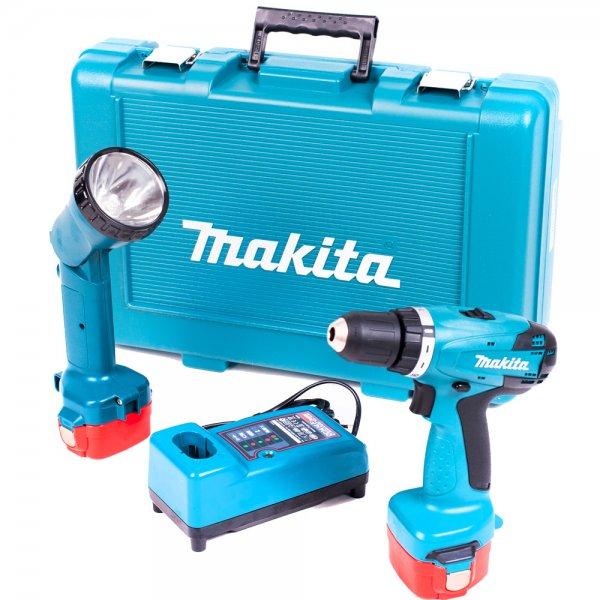 Makita 6271DWPLE - Akku-Bohrschrauber, 2x 1,3Ah Akku, Lampe, Transportkoffer - 92,89€ @ Notebooksbilliger.de