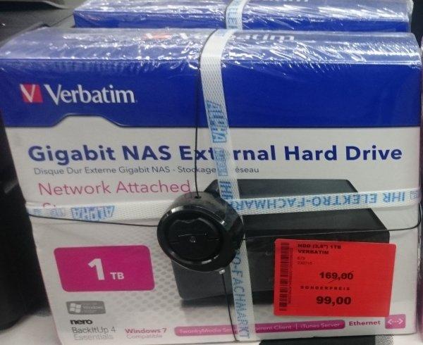 [LOKAL Alphatecc St.Wendel] Verbatim NAS Server 1TB für 99€