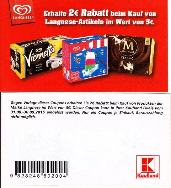 [ Kaufland Schifferstadt ] 3 mal Cremissimo für 3,64 ( Angebot + coupon )