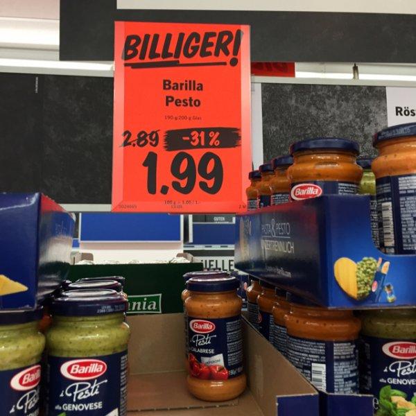 Barilla Pesto bei Lidl -31%