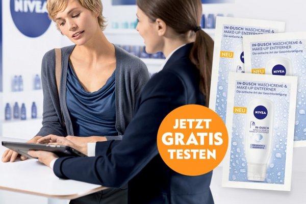 NIVEA In-Dusch Waschcreme & Make-up Entferner Gratisprobe für Beratung (Bundesweit)
