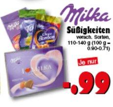 [JAWOLL] Milka Snax // I Love Milka Pralinés 110-140g für nur 0,49€ (Angebot + Scondoo) [LIMITIERT:10x/Account]