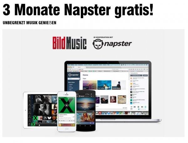 [Bild] 1 Monat Bild Plus (Probemonat) +3 Monate Napsterflat für 0,99€.Kündigung notwenig
