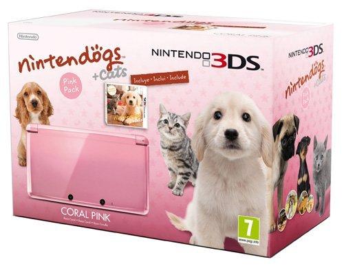[Gamingoase] 3DS Konsole Rosa + Nintendogs und Cats Spiel EU Version für 159,99 anstatt 219,90