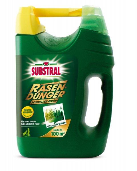 """@Amazon Prime oder Buchtrick: Substral Rasendünger """"Schneller Grün"""" 100 m² - 3,8 kg für 9,10€"""