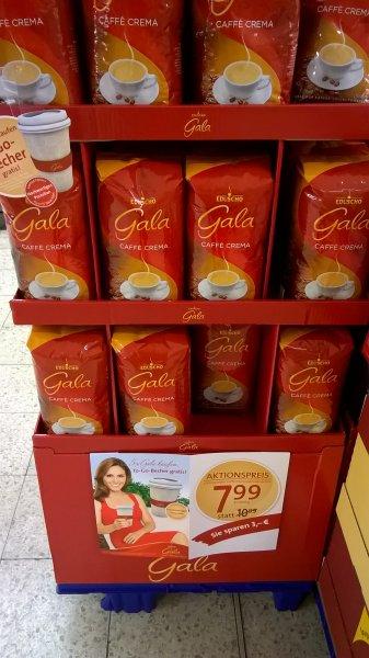 REWE: Eduscho Gala Caffè Crema 1kg, Kaffeebohnen 7,99€