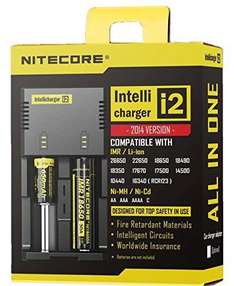 [Banggood] NiteCore NC-i2 - Akku Ladestation für Li-Ion/Ni-Mh/Ni-Cd (Intellicharger)