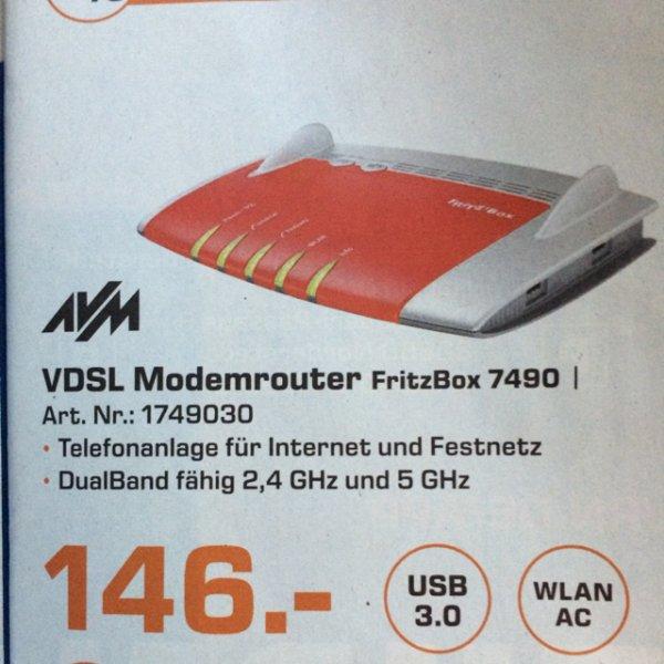 [Lokal Hamburg] AVM FritzBox 7490 bei Saturn für € 146,-