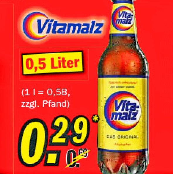 Vitamalz 0,5 Liter zum Bestpreis von nur 29 Cent! am 16.9 bei [Zimmermann]