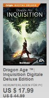 [Origin Mexico und Brazil] Bis zu 70% sparen.(Dragon Age Inquisition Digital Deluxe für 17,99$ usw)