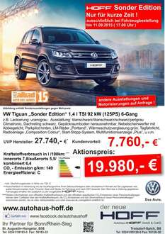 "[Bonn] VW Tiguan ""Sonder Edition"" 1,4 l TSI 92 kW (125PS) 6-Gang"