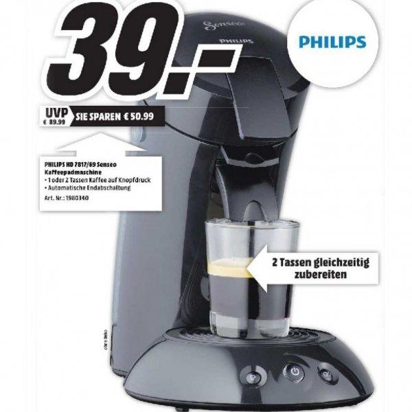 Philips Senseo HD 7817/69 statt 61,49€ nur 39 Euro am 10.9 [Media Markt Essen]
