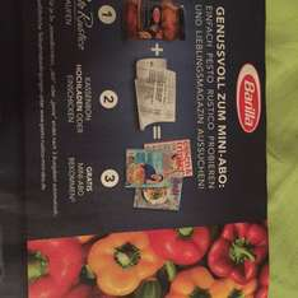Gratis Mini Abo beim Kauf von Barilla Pesto Rustico