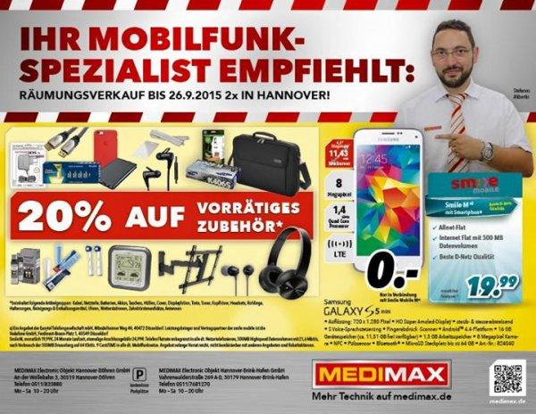 [Lokal Hannover] 20% auf vorrätiges Zubehör bei MediMax