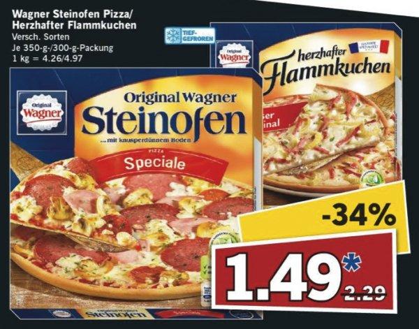 [LIDL bundesweit] KW38 Super Samstag: Original Wagner Steinofen Pizza oder der herzhafte Flammkuchen (versch. Sorten, je 300 - 350 g) für 1,49 € (Angebot) [19.09.2015]