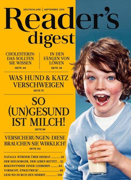 """Jahresabo der Zeitschrift """"Reader's Digest"""" für 45,40€ mit 25,00€ BestChoice Premium-Gutschein oder 25,00€ Bargeldprämie  - Effektivpreis: 20,40€"""