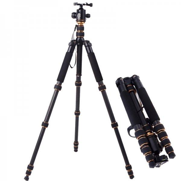 Q666C Carbon Reisestativ mit Kugelkopf für SLR Kameras