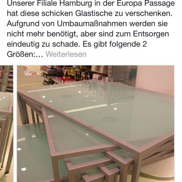 Glastische beim Idee in Hamburg zu verschenken