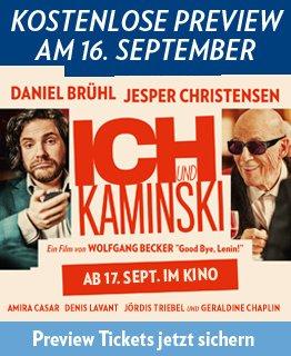 (Fast) Kostenlos ins Kino: Ich und Kaminski am 16.09.