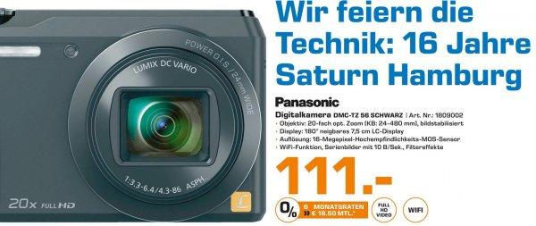 [SATURN Hamburg] Panasonic DMC TZ-56 SCHWARZ für 111.- € (nächster Preis: 159.- €)