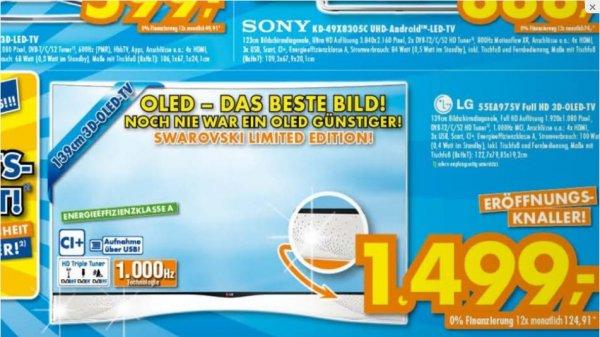 [Lokal] OLED LG 55EA975V 1499,00 EUR (Idealo 1999,00 EUR)