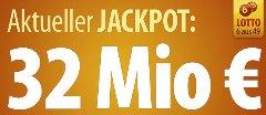 6 Lottofelder für 1€ für Bestandskunden und 7 Lottofelder kostenlos für Neukunden bei Tipp24 - 32 Mio. Euro Jackpot - Zwangsausschüttung *UPDATE*