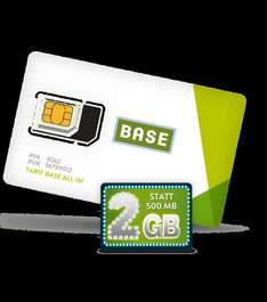 Base Allnet-Flat mit SMS, 2 GB und Festnetznummer für 13,96 Euro Monat /335€ für 2 Jahre
