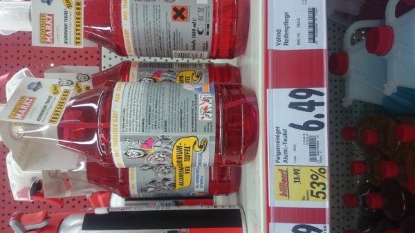 [lokal Kaufland Neunkirchen (Saar) evtl. bundesweit] Aluteufel Felgenreiniger rot 6,49€