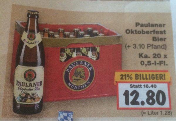 [Kaufland 14.-19.09] Kasten Paulaner Oktoberfestbier/Erdinger(+Glas) für 12,80€