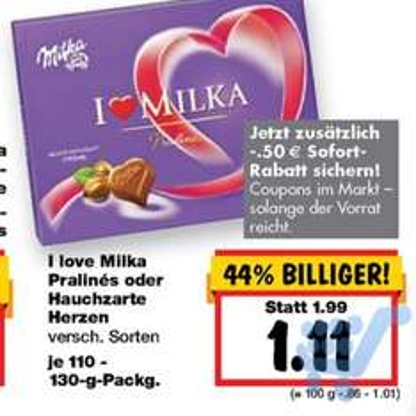 [Kaufland] I love Milka Pralinés o. Herzen ab 17.09.