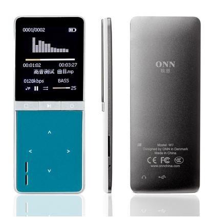 ONN W7 Multifunktionaler MP3-Player (8GB, microSDHC, 70h Spielzeit…) + $5 Gutschein für $25.12 (22,86€) statt $32.11 (29,22€)