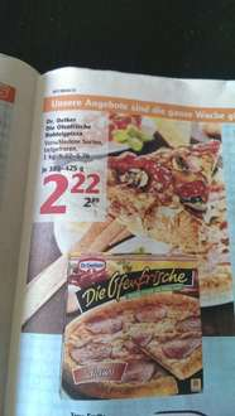 [Globus] Dr. Oetker Die Ofenfrische für 1,72 (Angebot + Coupon)