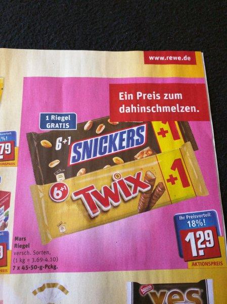 Mars, Snickers und Twix in der Aktion 5+1