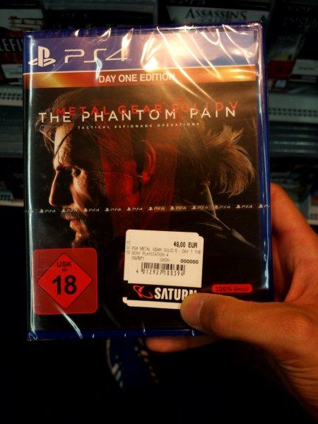 [Saturn Jena]Metal gear solid 5 Phantom pain,   Mad Max und Until dawn PS4 je 49