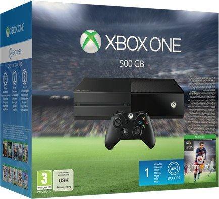 [Mediamarkt.de] Xbox One 500GB inkl. Fifa 16 + 2. Controller + 3 Monate Xbox Live Gold + 10€ Xbox Live Guthaben für 369 €  // Update: Auch erhältlich bei Amazon und Saturn.