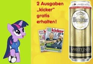 """1 Dose Warsteiner + Gutschein für 2 Ausgaben """"KICKER"""" (Netto Markendiscount / ab 19.09.15)"""