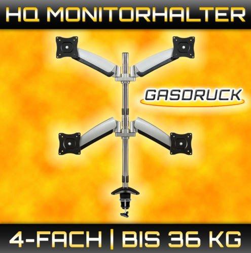eBay - 4 Facher Bildschirm VESA Monitor Arm - Tisch Halterung - Schwenkbar - Gasdruck - Bis 36 KG - Knusprige 29,95 € incl. Versand!