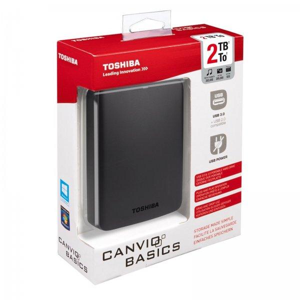 EBAY [Media Markt] Click & Collect, Toshiba Canvio Basics 2TB, USB 3.0 für 65€