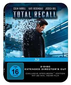 Total Recall (Steelbook Edition Director's Cut + Kinoversion) [Blu-ray] für 7,99 € > [amazon.de (Prime) u. mediamarkt.de (Abholung)]