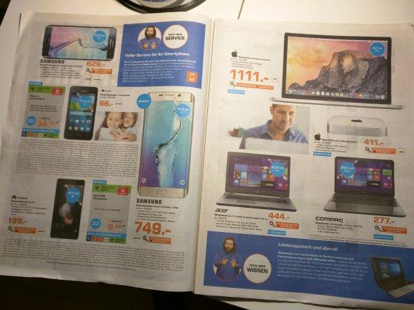"[Lokal Saturn Aachen] Huawei P8 Lite 199€, Huawei Y360 66€, MacBook Pro Retina 13"" 1111€, Mac Mini 411€, Sony Alpha 6000 Kit 555€, TomTom Navi"