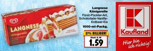 [KAUFLAND] 4 Packungen Langnese Königsrolle 1000ml für 1,09€/Packung (nur in BY/BW)
