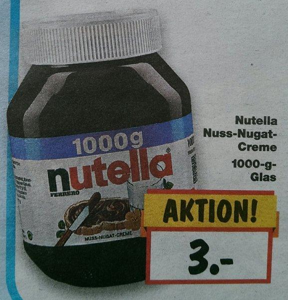 (lokal) Nutella 1000g für 3€, Kaufland Hauzenberg