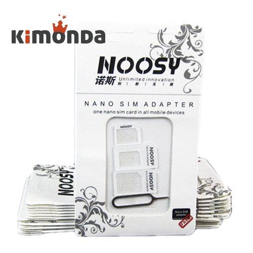2 x Noosy 4in1 Sim-adapter Nano Micro Sim Kartenadapter + Nadel [kimonda @ ebay] jetzt 1,50€