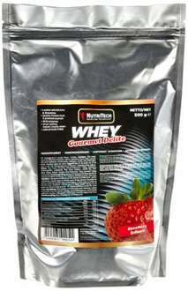 [Amazon-Sparabo-Plusprodukt] NutriTech Europe Whey Gourmet Delite Erdbeere Beutel, 1er Pack (1 x 500 g) ab 3,65€