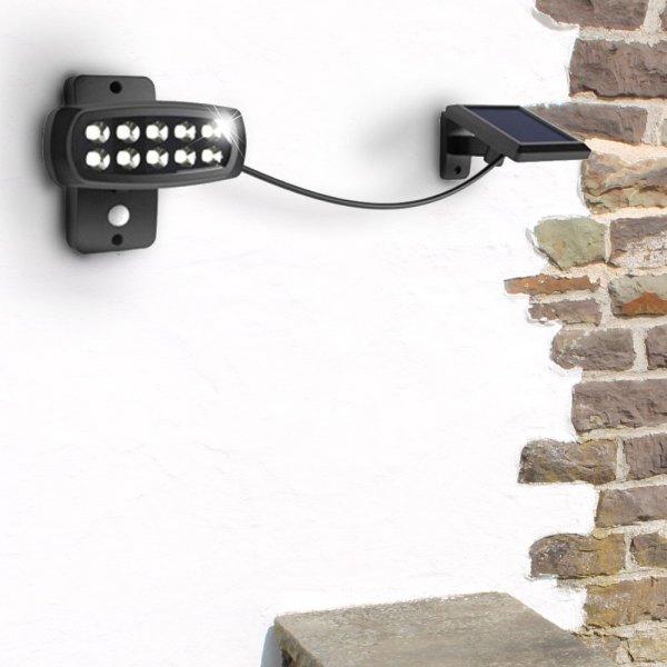 LED Solar Außen Leuchte mit Bewegungsmelder für Haus und Garten - wetterfestes Material